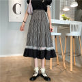 skirt Summer 2021 Average size Picture color Mid length dress commute High waist A-line skirt lattice Type A 18-24 years old 0414Y 31% (inclusive) - 50% (inclusive) Other / other Splicing Korean version