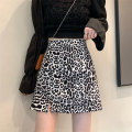 skirt Summer 2021 S,M,L Picture color Short skirt commute High waist A-line skirt Leopard Print Type A 18-24 years old 0418L 30% and below other Other / other Korean version