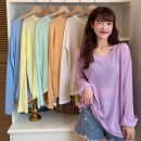 T-shirt Sky blue, light green, white orange, light yellow, taro purple, versatile white Average size Spring 2021 Long sleeves Crew neck easy Regular routine commute other 31% (inclusive) - 50% (inclusive) 18-24 years old Korean version Solid color Other / other W03010