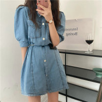 Dress Summer 2021 Picture color M, L Short skirt singleton  Short sleeve commute Polo collar Others 18-24 years old Other / other Korean version 0412L 30% and below other