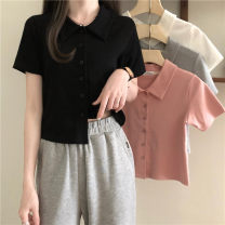 T-shirt Gray, white, black, pink Average size Spring 2021 Short sleeve Polo collar Self cultivation have cash less than that is registered in the accounts commute other 30% and below 18-24 years old Korean version Other / other 0310L