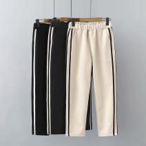 Women's large Winter 2020, autumn 2020 Dark grey, black, beige Large XL, large XXL, large XXL trousers singleton  commute moderate Korean version Three dimensional cutting 25-29 years old Ninth pants