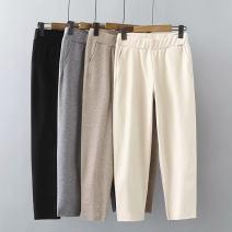 Women's large Autumn 2020 Black, gray, khaki, beige Large XL, large XXL, large XXL trousers singleton  commute moderate Korean version Three dimensional cutting je-----0098 25-29 years old Ninth pants