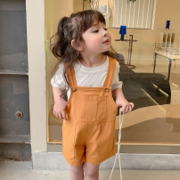 trousers Other / other female 80cm,90cm,100cm,110cm,120cm,130cm,140cm Off white, orange summer shorts Korean version There are models in the real shooting rompers middle-waisted cotton Don't open the crotch HN backpack shorts HN backpack shorts Chinese Mainland