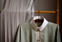 "Hanfu 96% and above ""Douqing Tencel vertical collar cardigan"", ""ash plain Tencel cotton pleated skirt"" Other sizes silk"
