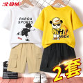 suit Beijirog / Arctic velvet 110cm 120cm 130cm 140cm 150cm 160cm 165cm male summer motion Short sleeve + pants 4 pieces or more Thin money There are models in the real shooting Socket nothing Cartoon animation cotton children Learning reward bejirog02834 Class B Cotton 100% Summer 2021