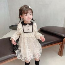 Dress white female Other / other 80cm,90cm,100cm,110cm,120cm,130cm Other 100% spring and autumn princess Long sleeves other other Cake skirt Class B 12 months, 18 months, 2 years old, 3 years old, 4 years old, 5 years old, 6 years old Chinese Mainland Zhejiang Province Shaoxing