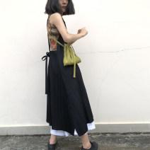Dress Autumn of 2018 black Average size T905