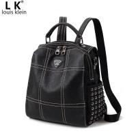 Backpack кожа LK Louis Klein LK270 - 3 - 3, LK270 - 3 новый досуг Япония и Южная Корея молния A kind of Три корня мягкий нет Мягкая ручка молодежи