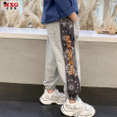 trousers Mizoguo male 110cm 120cm 130cm 140cm 150cm 160cm Black camouflage knitting color, gray size, not too big spring and autumn trousers leisure time There are models in the real shooting Sports pants Leather belt middle-waisted Don't open the crotch Other 100% mydk21108 mydk21108 Spring 2021