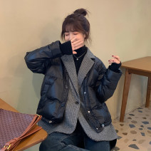 Cotton padded clothes Black, apricot Average size Winter 2020 Other / other Medium length Long sleeves thickening Single breasted commute tailored collar routine Solid color Korean version Pockets, stitching 30% and below other 18-24 years old