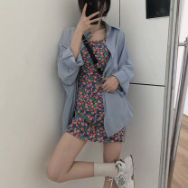 Fashion suit Spring 2021 Average size One piece of suspender skirt, one piece of shirt 18-25 years old 30% and below