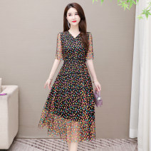 Dress Summer 2021 White, black S,M,L,XL,2XL,3XL Miniskirt singleton  Short sleeve commute V-neck High waist Socket Big swing routine Others 35-39 years old Type A Korean version 3239 real auction + a large number of spot 31% (inclusive) - 50% (inclusive) other
