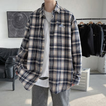 shirt Youth fashion Others M. L, XL, 2XL, 3XL, s small, 4XL, XS plus small, 5XL Red grid, Tibetan Green Grid routine square neck Long sleeves easy Other leisure spring teenagers Polyester 64% cotton 31% other 5% tide 2021 lattice Plaid No iron treatment cotton other Easy to wear
