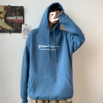 Sweater Youth fashion Others Black, blue, gray M. L, XL, 2XL, 3XL, s small, 4XL, 5XL, XS plus small other Socket routine Hood autumn easy leisure time teenagers tide routine Cotton 50% polyester 50% other printing No iron treatment Japanese and Korean style