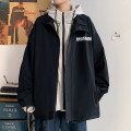 Jacket Other / other Youth fashion Light gray, black, watermelon red M. L, XL, 2XL, 3XL, s small, 4XL, 5XL, XS plus small routine easy Other leisure spring Polyester 100% Long sleeves Wear out Hood tide youth routine Zipper placket 2021 Cloth hem No iron treatment Loose cuff other Splicing