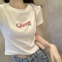 T-shirt White, black, grey S,M,L Summer 2021 Short sleeve Crew neck easy Regular routine commute cotton 96% and above Retro originality Other / other