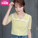 Lace / Chiffon Summer 2020 Red, yellow S,M,L,XL,2XL Short sleeve commute Cardigan singleton  Straight cylinder have cash less than that is registered in the accounts Doll Collar other routine Korean version