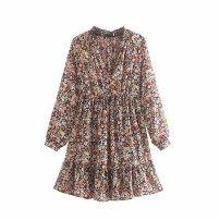 Dress Autumn of 2019 As shown in the figure S,M,L Short skirt Long sleeves street 18-24 years old 81% (inclusive) - 90% (inclusive) Europe and America