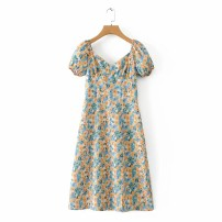 Dress Spring 2021 As shown in the figure S,M,L Mid length dress street High waist 18-24 years old 81% (inclusive) - 90% (inclusive) Europe and America