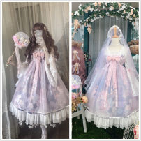 Dress Spring 2021 Average size Middle-skirt singleton  Long sleeves Sweet Crew neck Loose waist Decor Socket Princess Dress pagoda sleeve Others 18-24 years old Type A Sauce 71% (inclusive) - 80% (inclusive) other other Lolita