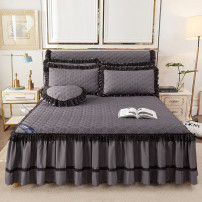 Bed skirt Others Purple, precious blue, silver gray, big red, jade, bean paste, pink Other / other Solid color Qualified products