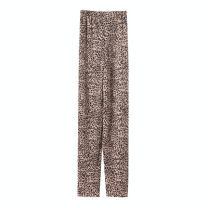 Women's large Spring 2021, summer 2021 Leopard Print Large XL, large 2XL, large 3XL, large 4XL, large 5XL trousers singleton  street easy thin Leopard Print polyester 25-29 years old Three dimensional decoration 31% (inclusive) - 50% (inclusive) trousers Europe and America