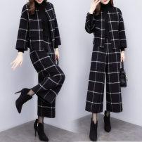 Fashion suit Autumn 2020 S,M,L,XL,XXL,XXXL Black (two piece set) JOJO20181103