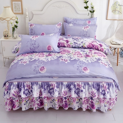 Bedding Set / four piece set / multi piece set Others other Plants and flowers 128x68 Other / other Others 4 pieces 60 Bed skirt Sanding Reactive Print