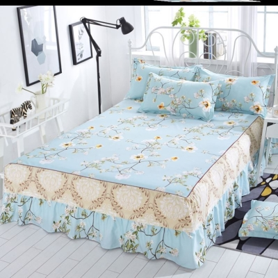 Bed skirt polyester fiber Other / other Plants and flowers Qualified products 547076877776-kafq