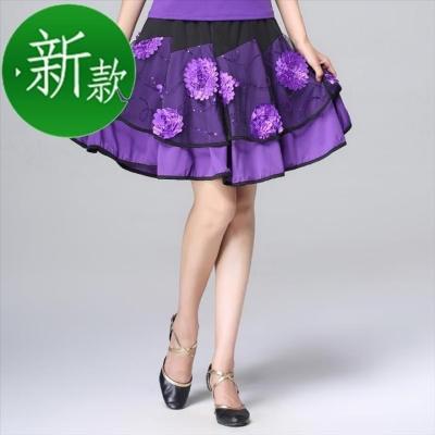 Square dance suit Other / other M,L,XL,2XL,3XL,4XL,5XL,6XL [purple V-neck single top], [Purple Lace single top], [purple single skirt], [big red V-neck single top], [big red single skirt], [purple V-neck top suit], [purple lace top suit], [big red V-neck top suit], [big red lace top suit] female show