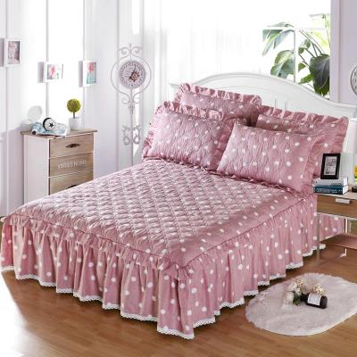 Bed skirt cotton Sweet Diary - red, Huapan, Jiameng, blue, Jinse, Nianhua, blue, happiness, pink, happiness, purple, flower language, fresh, flower dream love, dream music, musical style, sweetheart bow, Fanghua, pianpianpianye dance, beauty style, Gesang love Other / other Plants and flowers
