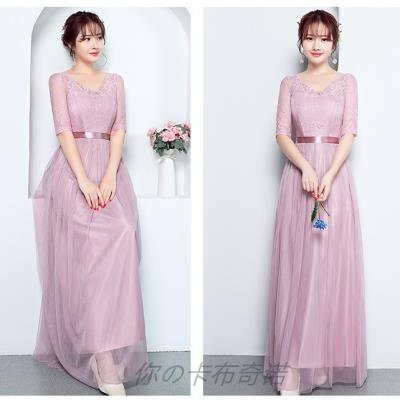 Dress / evening wear Wedding, adulthood, party, company annual meeting, performance, routine, appointment Large size long (130-150 Jin), large size long (105-135 Jin), average size long (80-105 Jin) Korean version longuette Elastic waist Summer of 2018 A-line skirt U-neck zipper Mesh, spandex flower