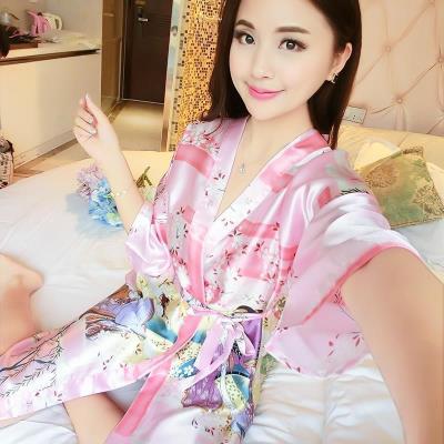 Nightgown / bathrobe Other / other female 160 (m), 165 (L), 170 (XL), 175 (XXL), 155 (s) Thin money sexy summer silk Geometric pattern youth printing