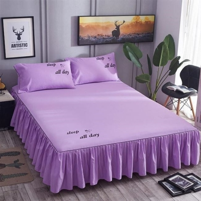 Bed skirt 120cmx200cm single bed skirt, 150cmx200cm single bed skirt, 180cmx200cm single bed skirt, 200cmx220cm single bed skirt, 180cmx220cm single bed skirt cotton Other / other Solid color First Grade