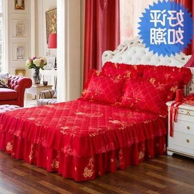 Bed skirt polyester cotton Purple love, meihongqin, Huayu, hongcaihong, red home, Huazhi, Zimei Honghua, Zhongai, violet romantic love, dazzle pink, lovely little, blue clear, pink orange, pink orange, purple dance, jade yellow charm, peach powder Other / other Plants and flowers Qualified products