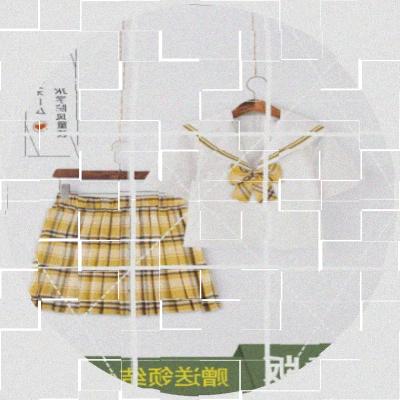 School uniform / school uniform customization One piece short skirt Shanchi, one piece short skirt yinglv, one piece top huangerben [free bow tie], yinglv suit (one size larger), Shanchi suit (one size larger) female Other / other summer solar system j7phMoPG