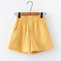 trousers Children's flag female 110cm 120cm 130cm 140cm 150cm 160cm 170cm yellow summer shorts Korean version No model Casual pants Leather belt High waist cotton Don't open the crotch Cotton 100% TQ6204 Class B TQ6204 Summer 2021 Chinese Mainland Guangdong Province Dongguan City