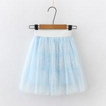 skirt 110cm 120cm 130cm 140cm 150cm 160cm Children's flag female Polyester 100% summer skirt princess Solid color Princess Dress polyester Class B Summer 2021