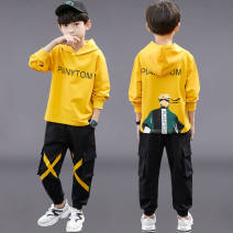 suit Other / other Yellow fire shadow suit, blue fire shadow suit, yellow coat, blue coat The recommended height is 110cm for 120, 120cm for 130, 130cm for 140, 140cm for 150 and 150cm for 160 male spring and autumn leisure time Long sleeve + pants 2 pieces routine Socket No detachable cap cotton