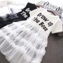 Dress White, black female Other / other 7(90cm),9(100cm),11(110cm),13(115cm),15(125cm) Other 100% summer other other 2 years old, 3 years old, 4 years old, 5 years old, 6 years old, 7 years old
