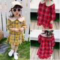 Dress Red, yellow female Other / other 7(90cm),9(100cm),11(110cm),13(120cm),15(130cm) Other 100% spring and autumn Korean version Long sleeves lattice other Lotus leaf edge F5164 2 years old, 3 years old, 4 years old, 5 years old, 6 years old