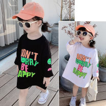 Dress White, black female Other / other 7(90cm),9(100cm),11(110cm),13(120cm),15(130cm) Other 100% spring and autumn Korean version Long sleeves other other F6445 2 years old, 3 years old, 4 years old, 5 years old, 6 years old Chinese Mainland