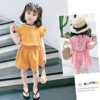 suit Other / other Yellow, pink 7(90cm),9(100cm),11(110cm),13(120cm),15(130cm) female summer Korean version nothing other F6628 2 years old, 3 years old, 4 years old, 5 years old, 6 years old Chinese Mainland