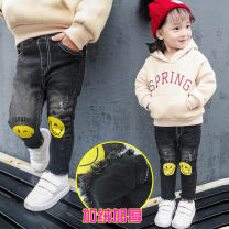 trousers Other / other female 7(100cm),9(110cm),11(120cm),13(130cm),15(140cm) Graph color winter trousers leisure time Combat trousers Leather belt Don't open the crotch F1971 Jeans 2 years old, 3 years old, 4 years old, 5 years old, 6 years old