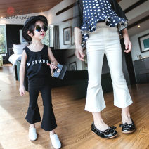 trousers Other / other female 7(90cm),9(100cm),11(110cm),13(120cm),15(130cm) White, black spring and autumn Ninth pants Korean version Casual pants Leather belt blending Don't open the crotch F0310 other F0310 2 years old, 3 years old, 4 years old, 5 years old, 6 years old
