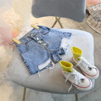 trousers Other / other female 7,9,11,13,15 Black, blue summer shorts Korean version Jeans F5213 F5213 2 years old, 3 years old, 4 years old, 5 years old, 6 years old
