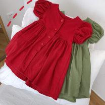 Dress female Other / other 7(90cm),9(100cm),11(110cm),13(120cm),15(130cm) Other 100% summer Korean version Short sleeve other other 2 years old, 3 years old, 4 years old, 5 years old, 6 years old Chinese Mainland