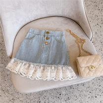 skirt 7(85cm),9(95cm),11(105cm),13(115cm),15(125cm) Graph color Other / other female Other 100% summer skirt Korean version Denim skirt F6627
