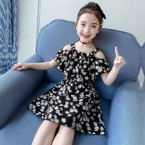 Dress black female Other / other 7,9,11,13,15 Other 100% summer Korean version Skirt / vest other other 2 years old, 3 years old, 4 years old, 5 years old, 6 years old Chinese Mainland